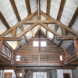 custom timber truss steel tensions ties open loft