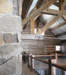 timberframe steel and stone exposed beams